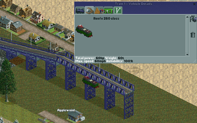 Coded train. Now I must move it up 42 px and render the other needed sprites.