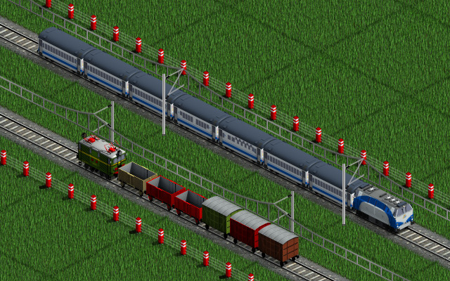 Screenshot. The small hopper and livestock wagon are in the previous versions.