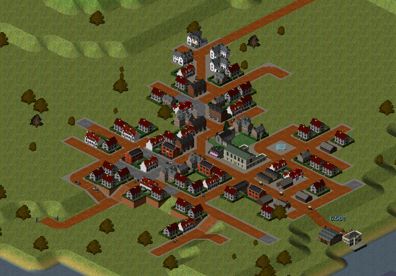Burlingcaster is the largest town on the map.