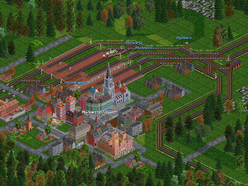 Marlow, the westernmost city currently served by the first part of the network.