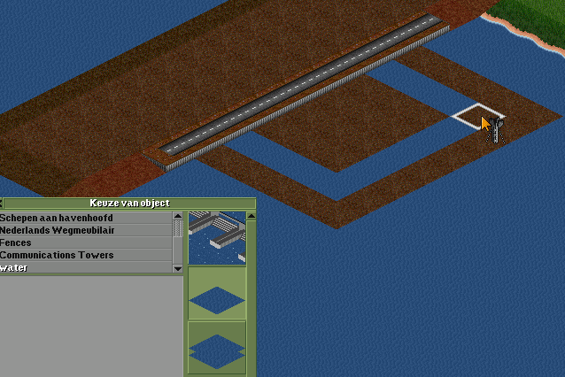 Secondly place NewObject watertiles around the airport, build a road or whatever you want on the slope to seal it off