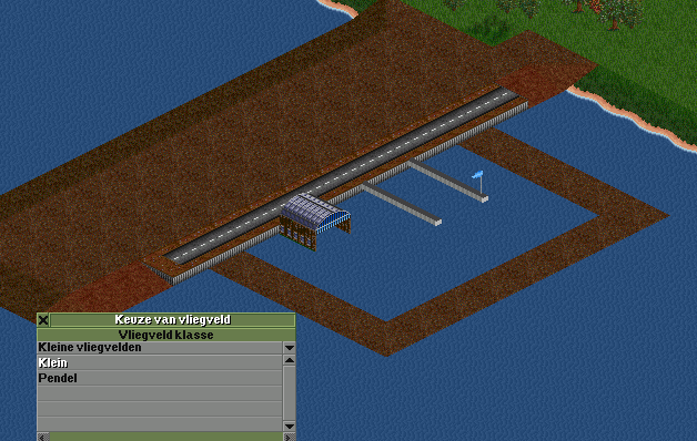 Finally, place the airport and let the game run again. The water wont flood the airport