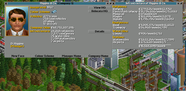 Detailed infrastructure overview in a game that ran much too long with inflation enabled.