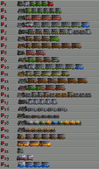 A sample of the trains in the French NG Trains set