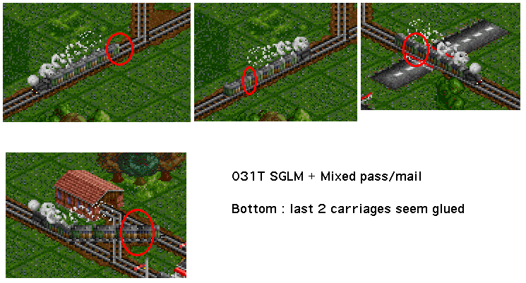 Graphical glitch when using 031T SGLM with mixed pass/mail carriages