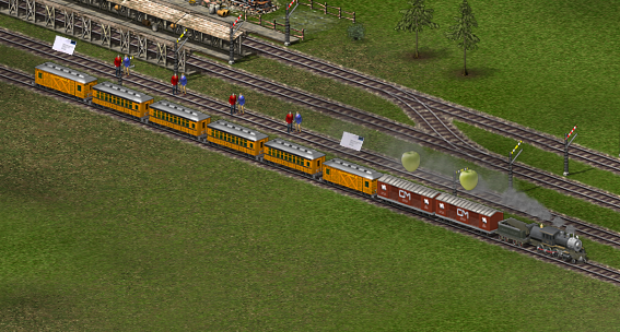 Example Train Layout to avoid storehouse bugs.
