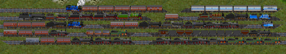 Some of the trains available