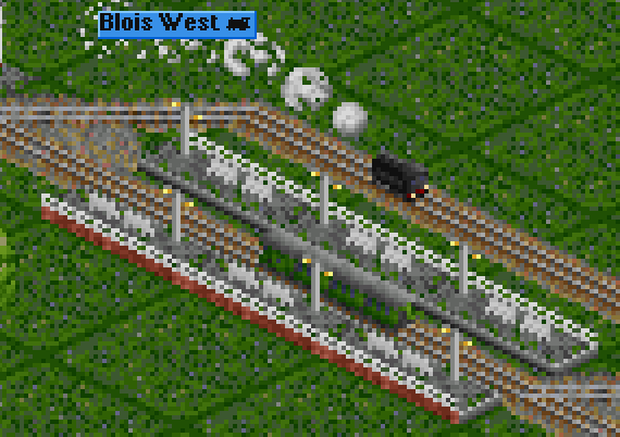 ... then the locomotive runs around it, cab-forward... (too bad the graphics of the wagons temporariliy change)