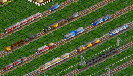 Some rolling stock, year 1990