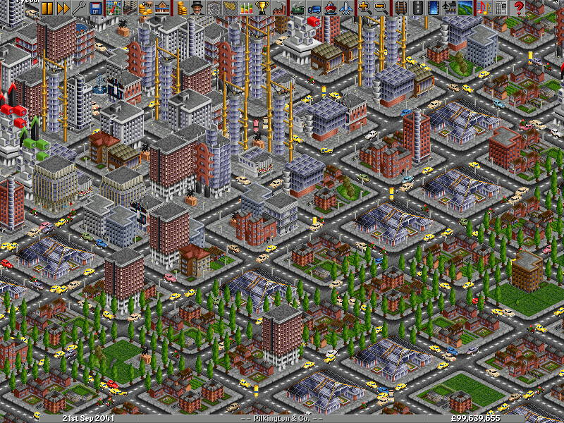 Traffic on the streets of Tycoon City