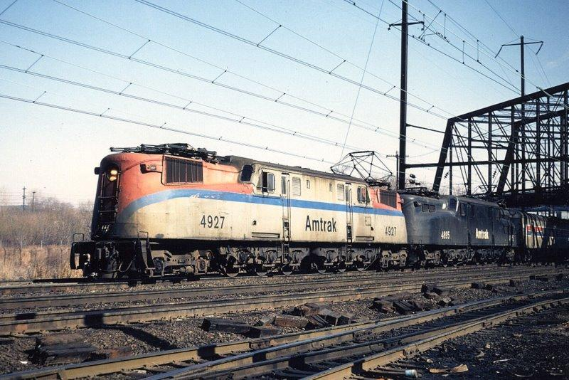 GG1 in Amtrak color scheme and branding