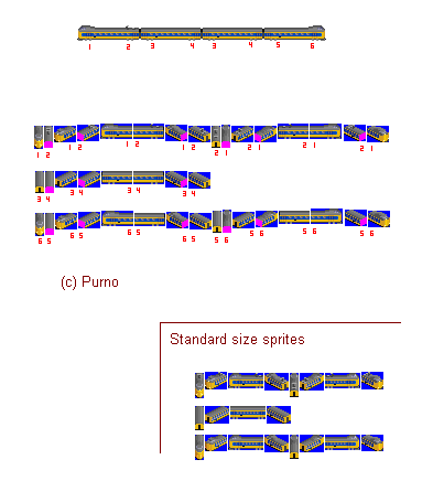 Double length sprites experiment graphics