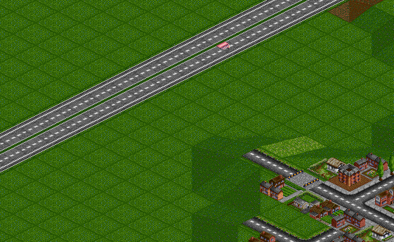 As you can see the bus is cut half, because of the sprite sorting problems.