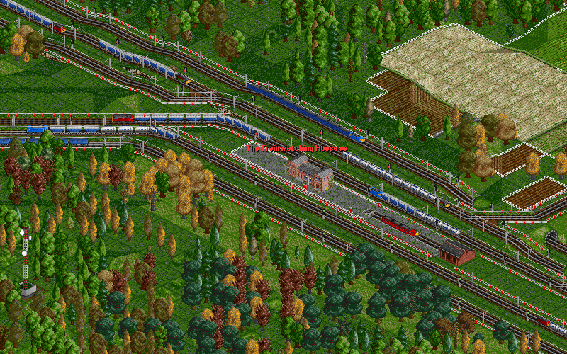 Co-Op Transport's trunk line, with masses of trains, a mixture of diesels and electrics, going to and from the factory and the eastern cities.