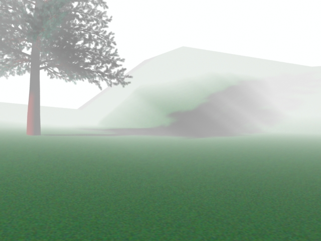 The terrain is made with 3DS Max8, and used my 'texture'. Its a little bit brighter than the original one because of the lighting effect.