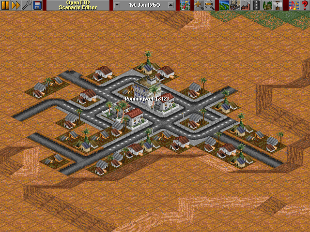 Desert pavements in Openttd!