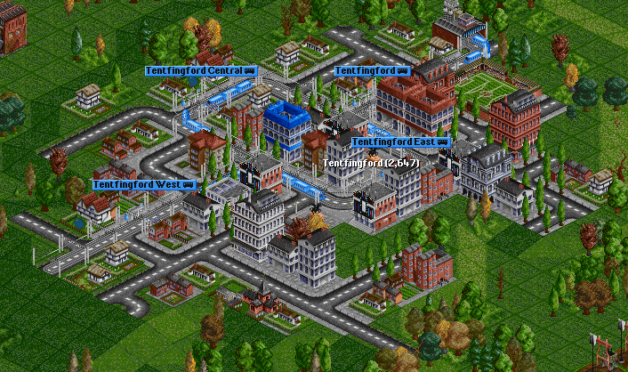 Screenshot of passenger trams (version 0.31).